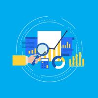 Business graph statistics flat vector illustration design