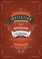 Fundo de Poster de convite vintage