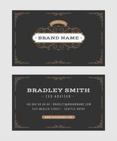 Business Card With Vintage Ornaments