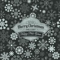 Merry Christmas Banner On Seamless Snowflakes Background vector