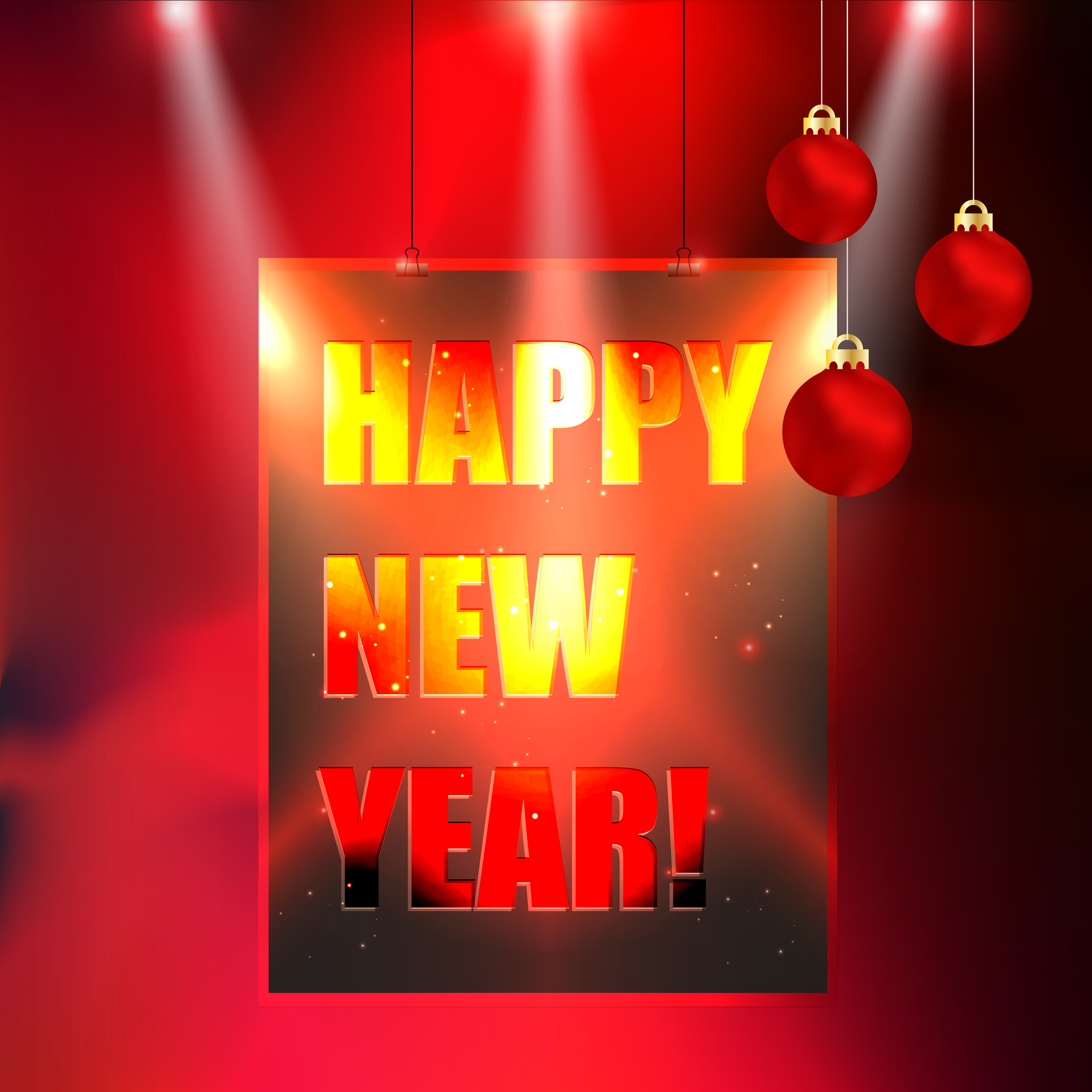 happy new year celebration poster background download free vector art stock graphics images