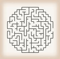 Maze Game On Vintage Hintergrund vektor