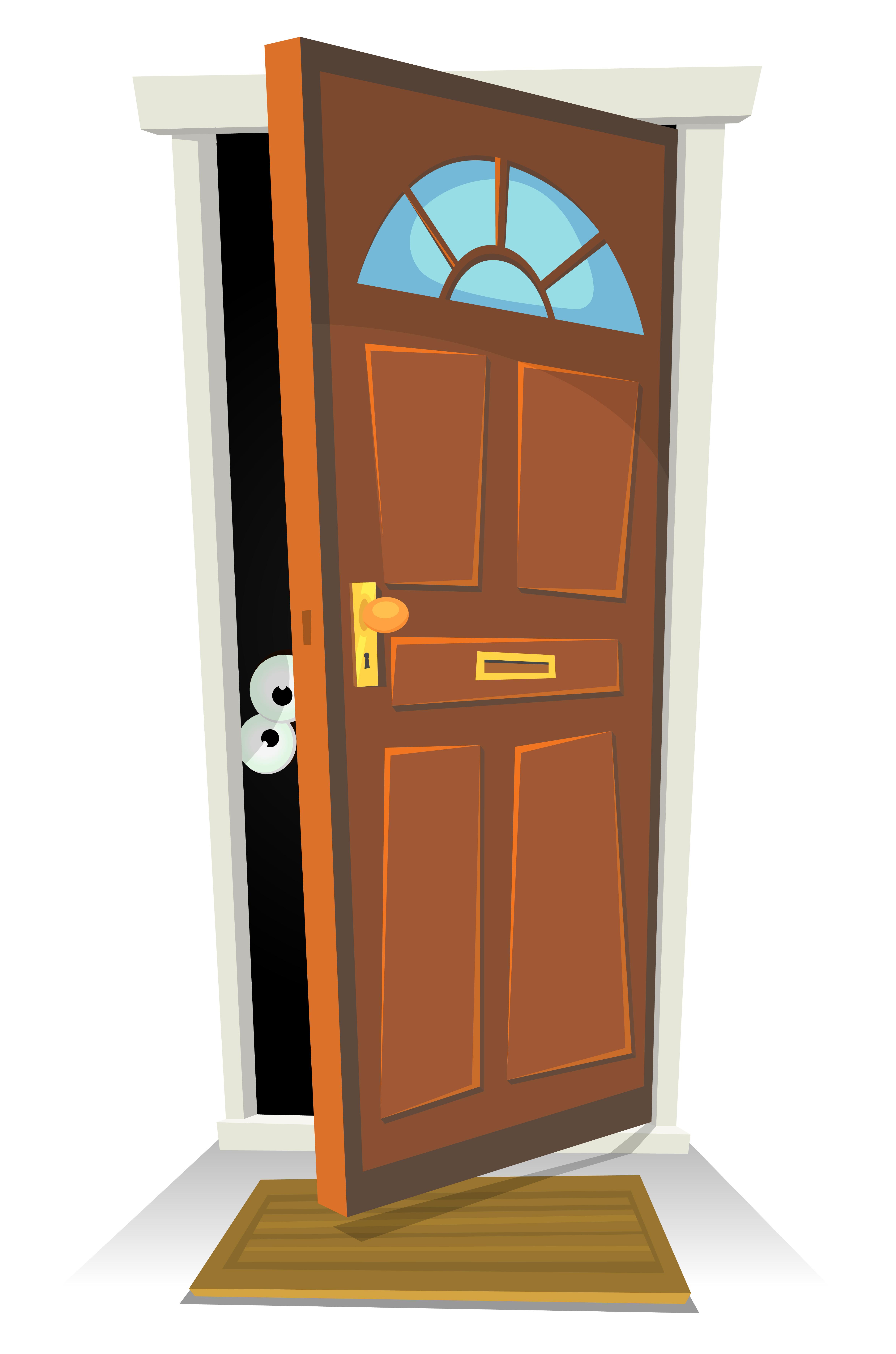 Something Or Someone Behind The Door Download Free Vectors Clipart Graphics Vector Art