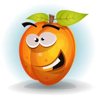 Funny Apricot Fruit Character