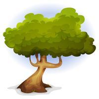 Árbol de primavera divertido de dibujos animados