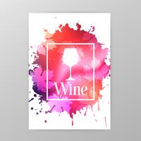 Wineglass promotion banner for wine tasting event