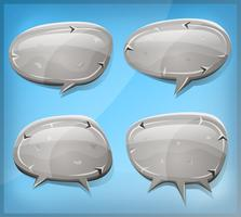 Comic Stone And Rock Speech Bubbles