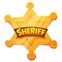 Sheriff Marshal Star gouden medaille pictogram