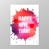Happy New Year celebration poster background vector illustration