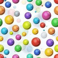 Seamless Multicolored Balls Background vector