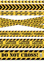 Police Line, Crime Scene And Warning Tapes