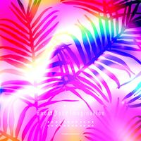Colorful leaves background template
