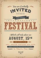 Vintage Festival uitnodiging Poster