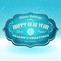 Happy New Year And Season's Greetings Banner