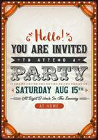 Vintage Party Invitation Card