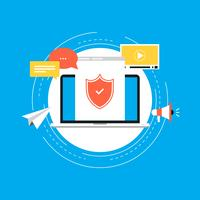 Data security flat vector illustration design