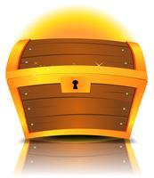 Baú de tesouro fechado dos desenhos animados