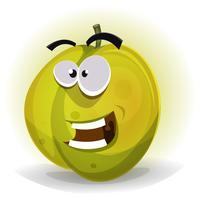 Comic Funny Plum Character vector