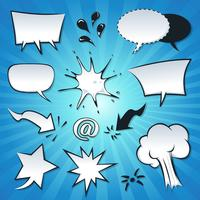 Speech Bubbles, Explosion And Splashes Set