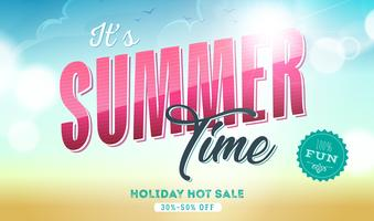 Summer Time Template Banner vector