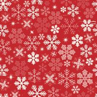 Seamless Christmas Snowflakes Background vector