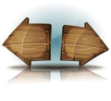 Signos de flechas para juego de interfaz de usuario