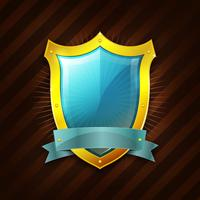 Gold Security Shield Icon