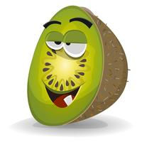 Cartoon Funny Kiwi Character