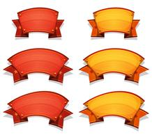 Comic Circus Banners And Ribbons For Ui Game vector