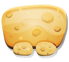 Cartoon Cheese Sign per Ui Game