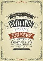 Fundo Do Convite Do Vintage