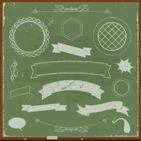 Banners de lousa e elementos de Design