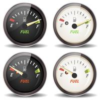 Fuel Gauge Icons Set