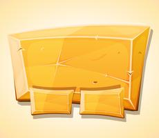 Cartoon Gold Ingot Panel For Ui Game