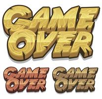 Cartoon Game Over Icon für Ui-Spiel