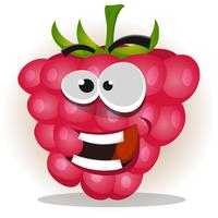 Funny Happy Raspberry Character