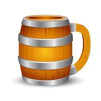 Houten bier mok