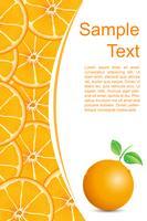 Fundo laranja fresco