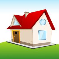 house on grassland vector