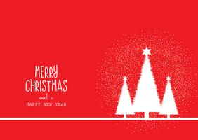 Christmas background with trees and decorative text