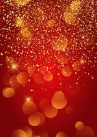 Fundo festivo de confete dourado