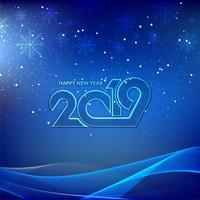 Elegant nytt år 2019 dekorativ bakgrund