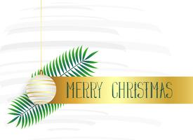 lovely christmas poster design with hanging ball