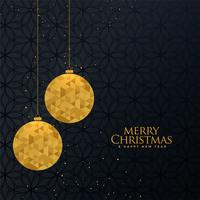 golden christmas creative ball greeting design