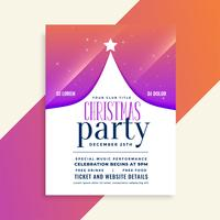 christmas party flyer with tree design