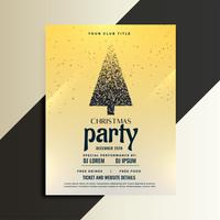 christmas party celebration flyer with particle tree design