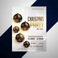 merry christmas invitation party flyer template