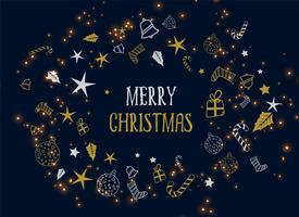 merry christmas decoration dark background