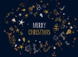 vrolijke kerst decoratie donkere achtergrond
