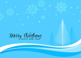 blue christmas beautiful scene background